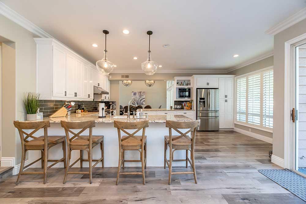Photo of a custom kitchen renovation.